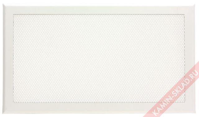 белая вентиляционная решетка для камина