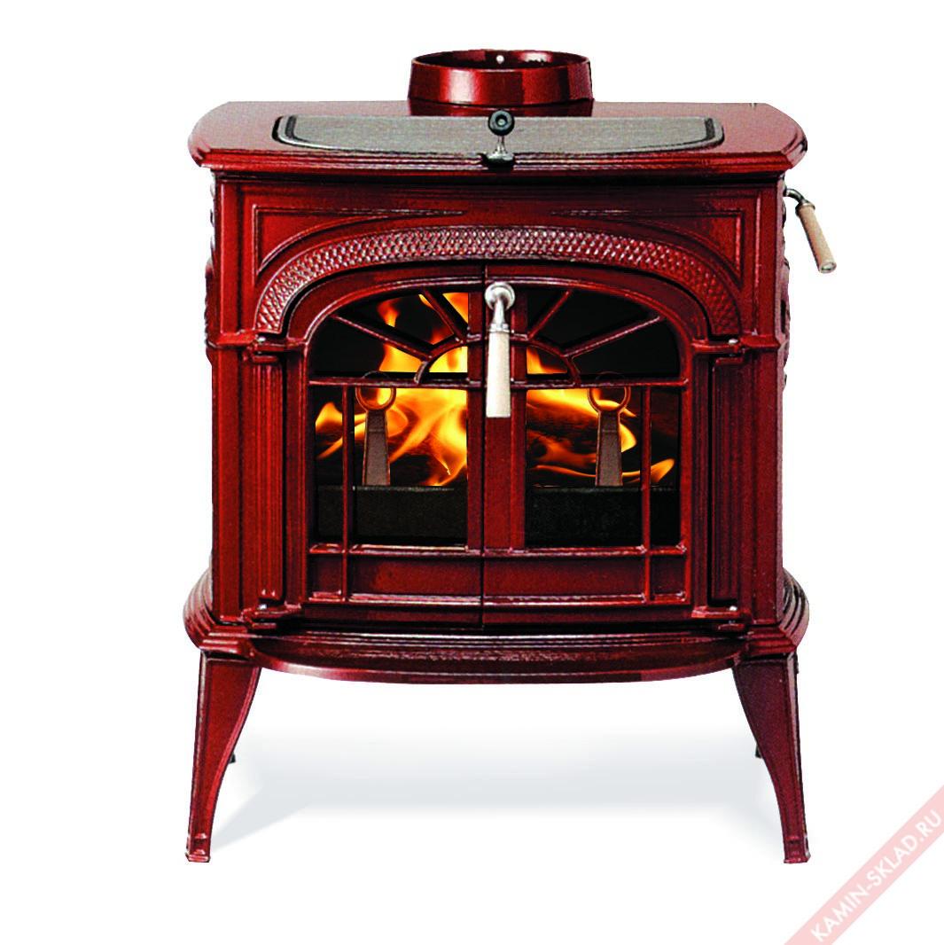 печь с красной эмалью
