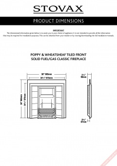 Чертеж для Poppy & Wheatsheaf Tiled Fireplace